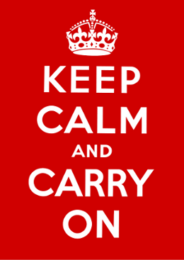 "Poster ""Keep Calm and Carry On"""